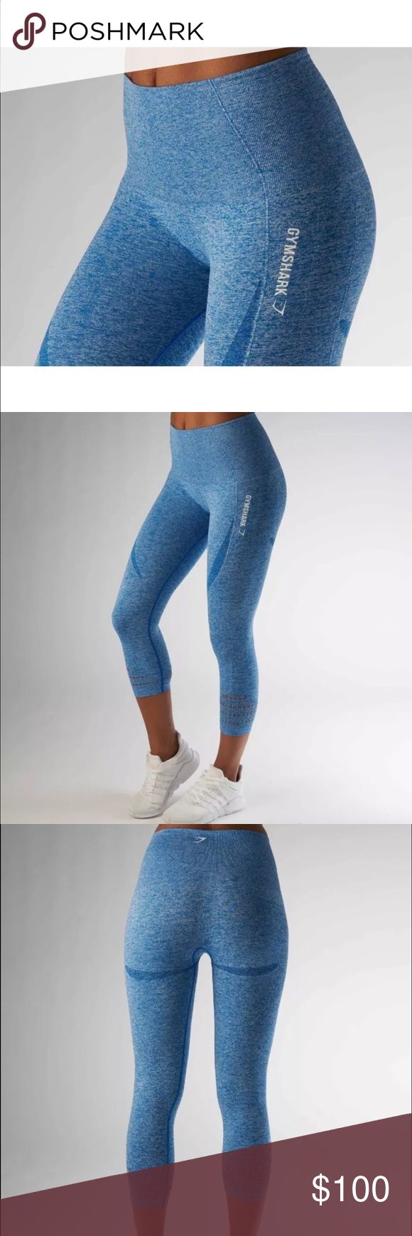 GymShark Seamless Leggings Medium Blueberry NWT Brand new with tags. Ready to ship. Please comment before purchased, as these are cross-listed. gymshark Pants Leggings