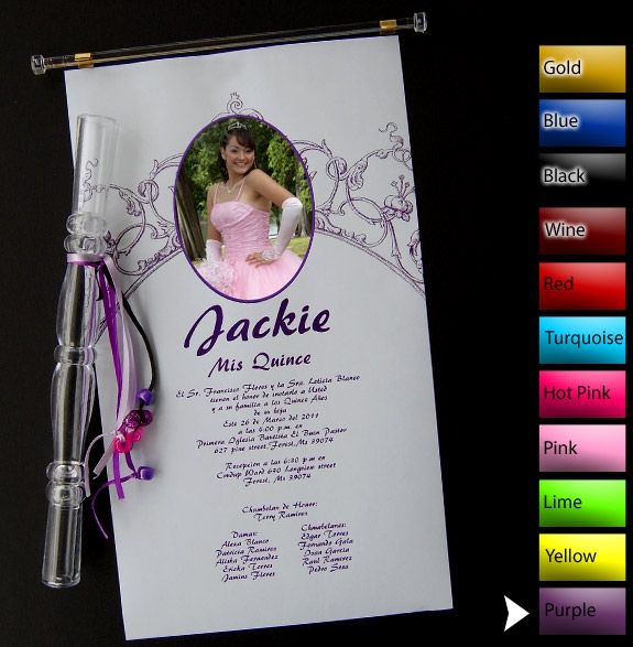 Tube Invitations For Quinceaneras is awesome invitations layout