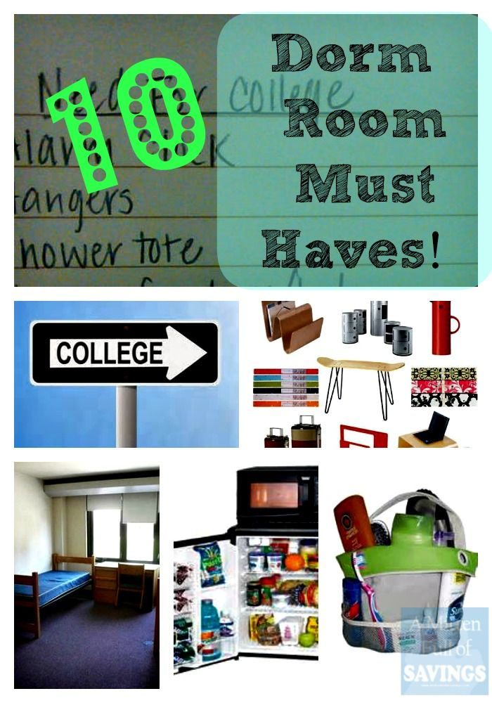 List Of 10 Dorm Room Essentials. Pinning for the checklist at the bottom. Most practical list I've seen