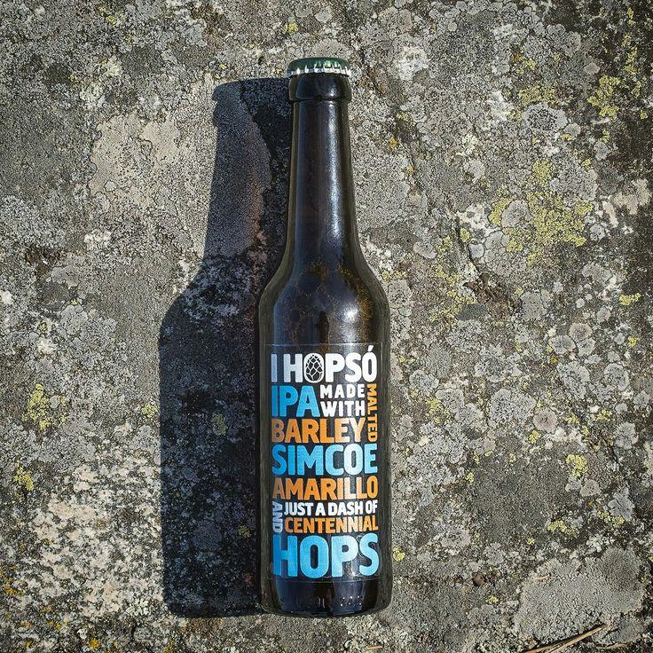 Ihopsó IPA designed by Viktor Forsman #beer #ipa  #packagingdesign #beerlabel #microbrew #öl #förpackning #cimcoe #amarillo #centennial #hops #beerlabel