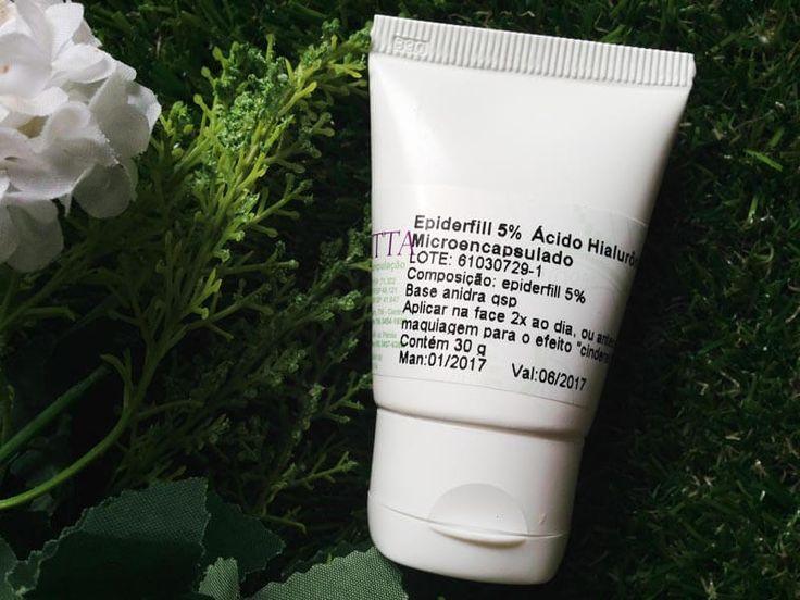 Resenha do Epiderfill, o ácido hialurônico micro encapsulado que tem efeito Cinderela e deixa a pele lisinha e esticada em 30 minutos!