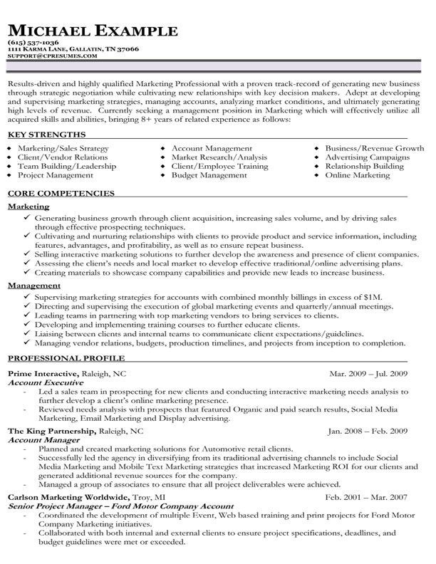 8 Years Functional resume, Chronological resume template