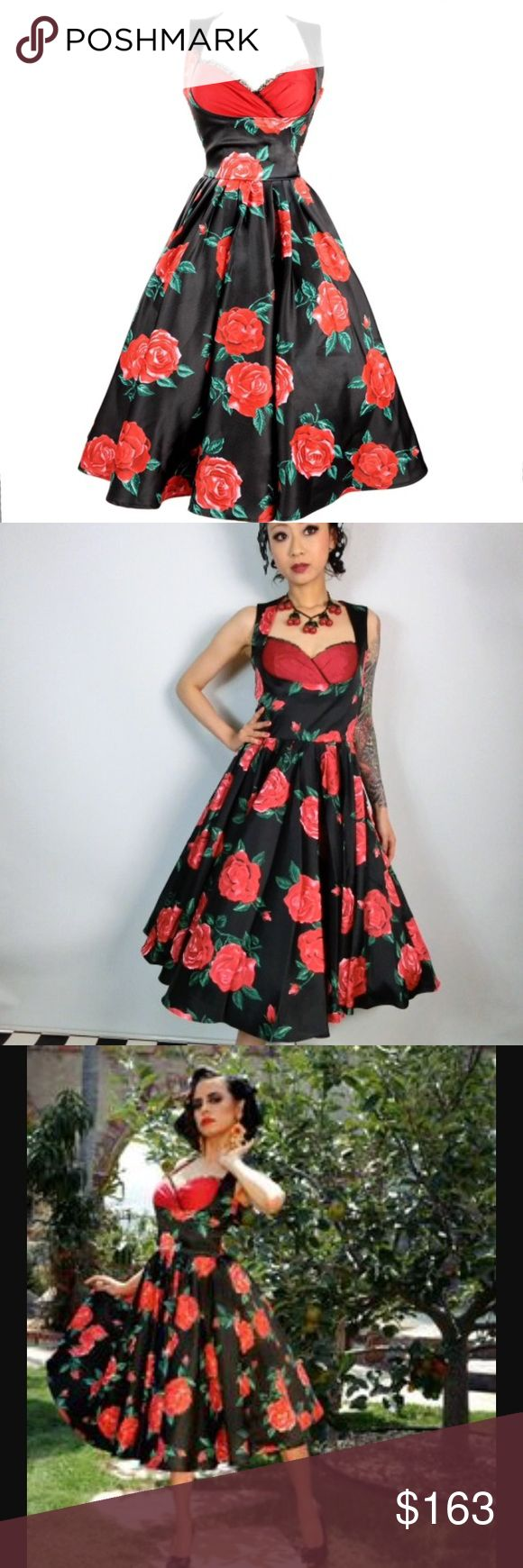 Pinup Couture grace dress in Spanish Rose! BNWT! Pinup Couture Dresses Midi