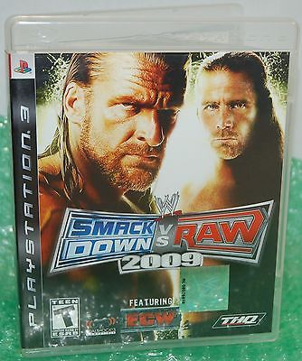 Sony PS3 Smackdown Vs Raw 2009 Video Game - WWE Wrestling Wild Tournament Action