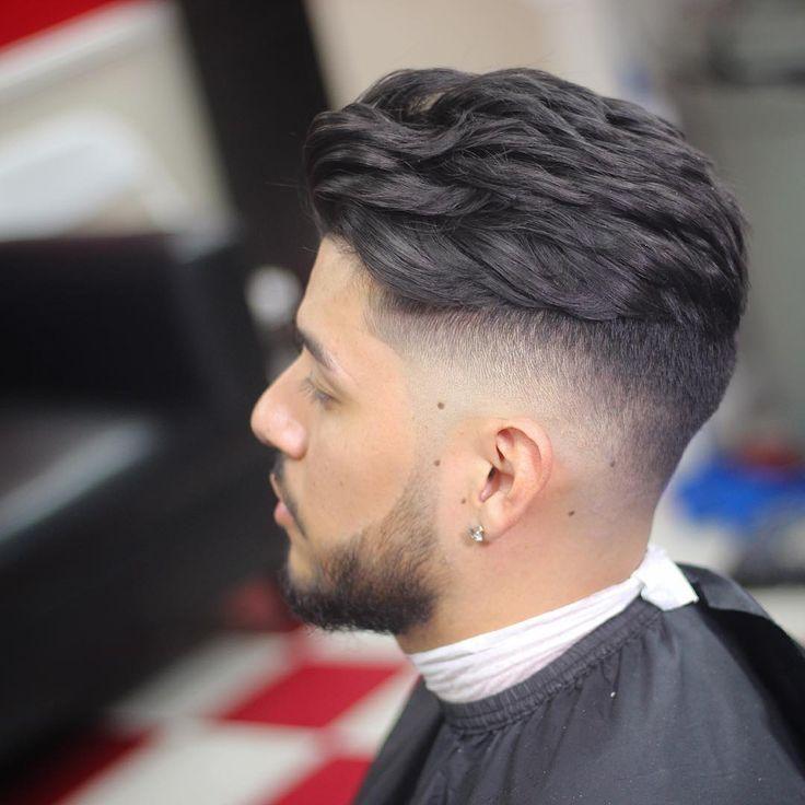 Wavy Hair With Fade Haircuts