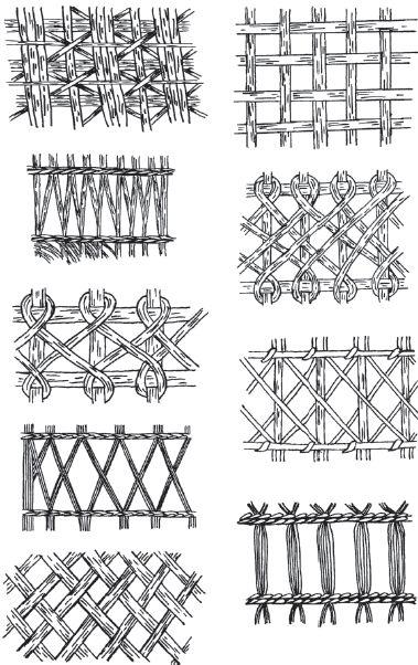 Muebles / tejido de paja y otros materiales de mimbre
