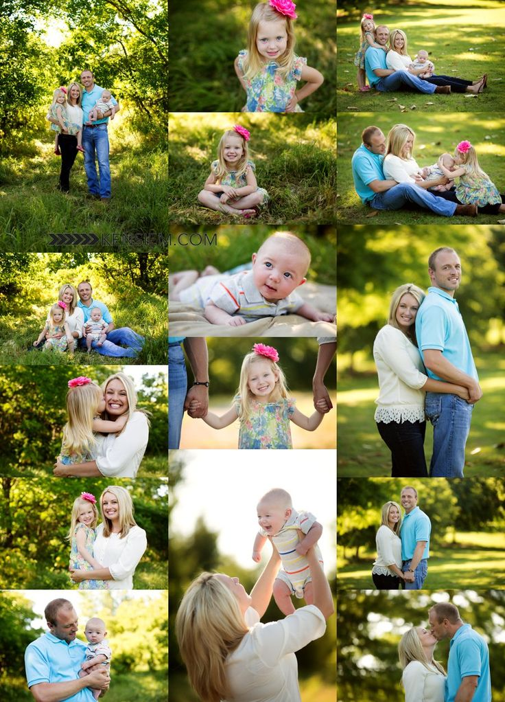 Backyard Family Portrait Ideas : Family Photography Family of Four Poses Outdoor family portraits of