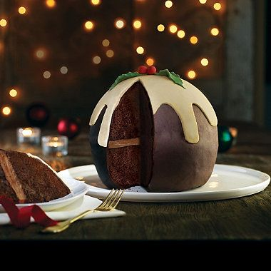 Christmas Pud Hemisphere Cake - from Lakeland