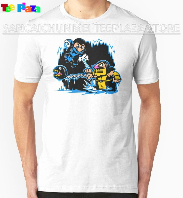 Teeplaza T Shirt Design Website Short Sleeve Top Mario Kombat Crew Neck T Shirt For Men