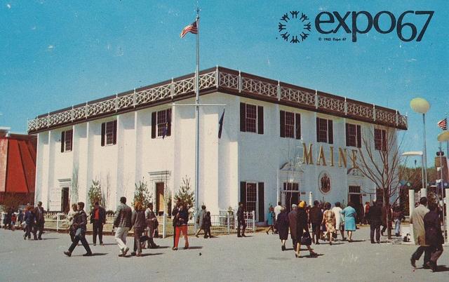 Le Pavillon de l'État du Maine à Expo 67. The State of Maine Pavilion at Expo '67 - Montreal, Quebec by What Makes The Pie Shops Tick?, via Flickr