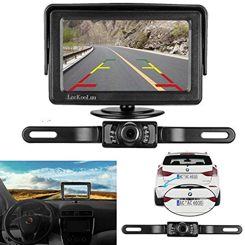 LeeKooLuu Backup Camera and Monitor Kit for Car/Vehicle/Truck Waterproof Night Vision License Plate rear view Camera wire Single power source Rear view/Fulltime view Optional 4.3 Display Grid Lines #LeeKooLuu #Backup #Camera #Monitor #Car/Vehicle/Truck #Waterproof #Night #Vision #License #Plate #rear #view #wire #Single #power #source #Rear #view/Fulltime #Optional #Display #Grid #Lines