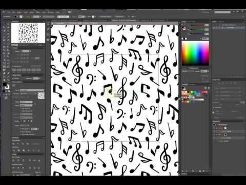 способ создания бесшовного паттерна в иллюстраторе - YouTube