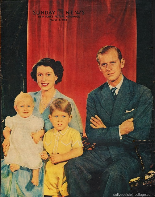 Royal Family 1952 NY Sunday News, via Flickr.  #Royalty #Queen Elizabeth # Great Britain #photography # 1950s
