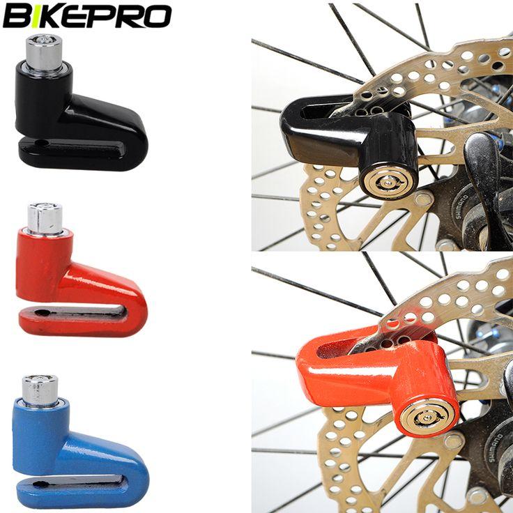 BIKEPRO Scooter Bike Anti theft Disk Disc Brake Rotor Lock Bicycle Motorcycle Safety Lock For Scooter Motorcycle Bicycle Safety