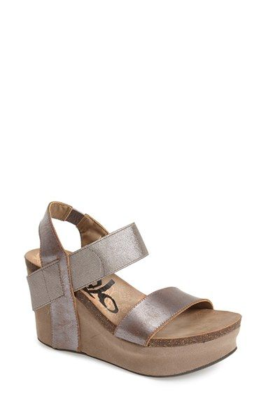 Free shipping and returns on OTBT 'Bushnell' Wedge Sandal at Nordstrom.com. An animal-printed leather strap adds intrigue to an adventurous wedge sandal.