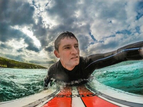 Out on the board at Rossnowlagh  #surf #surfing #selfie #wildatlanticway #waves