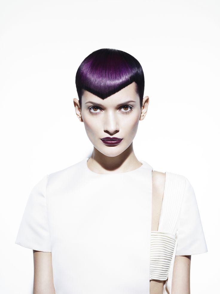 Black & Purple #short hair