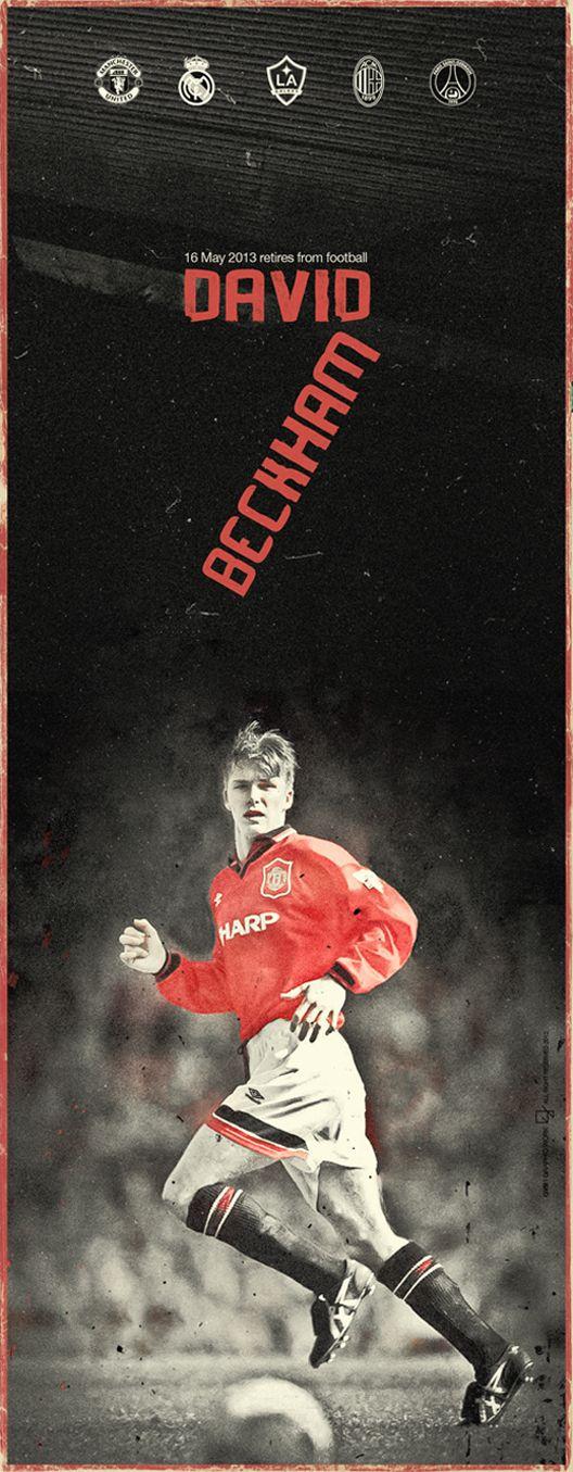 David Beckham by Giuseppe Vecchio Barbieri, via Behance