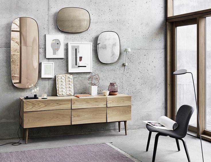 Dzisiejszymi bohaterami są dwa piękne lustra w trzech różnych kolorach Framed Mirror firmy Muuto. Ich organiczne kształty stworzą ciekawy efekt na Waszych ścianach. Proponujemy stworzyć kompozycje składająca się z kilku kolorów i rozmiarów.