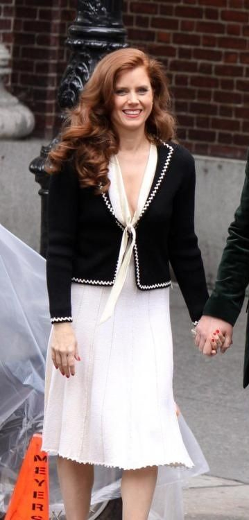 Amy Adams on the set of American Hustle