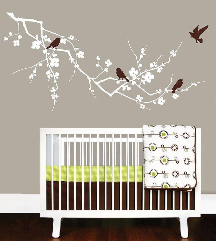 birds on branch wall sticker by parkins interiors | notonthehighstreet.com