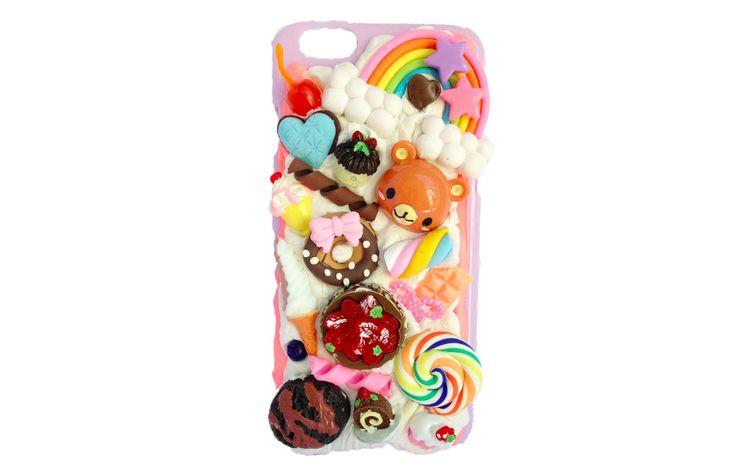 Cute Kawaii Bear iPhone 6 decoden case cover (Ready to be shipped) by PepperAndSoda on Etsy #cute #kawaii #bear #lollipop #sweet