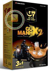 G7 - GU MANH X2 (Trung Nguyen Coffee) 3 in 1 - быстрорастворимый натуральный вьетнамский черный кофе - 12 пакетиков по 25гр. - 300 гр. Вьетнам.