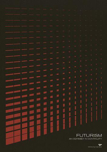 Futurism - An Odyssey in Continuity #simon #page #grafica #poster #geometrico #vintage #futurismo #pattern
