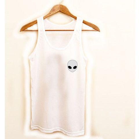 alien tank top #tanktop #tank #top #shirt #tshirt #top #tee #trendy #clothing #graphictee #cloth #simple #fun