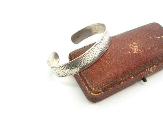 Bracelet manchette en argent eBay
