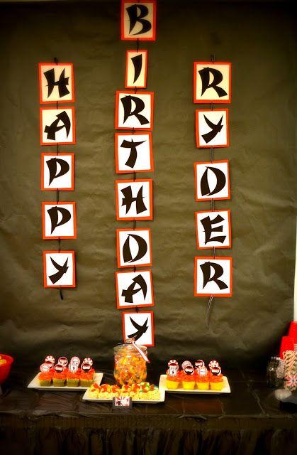 roeandlee: Hi-Ya! It's a Ninja Birthday Party!                                                                                                                                                                                 More