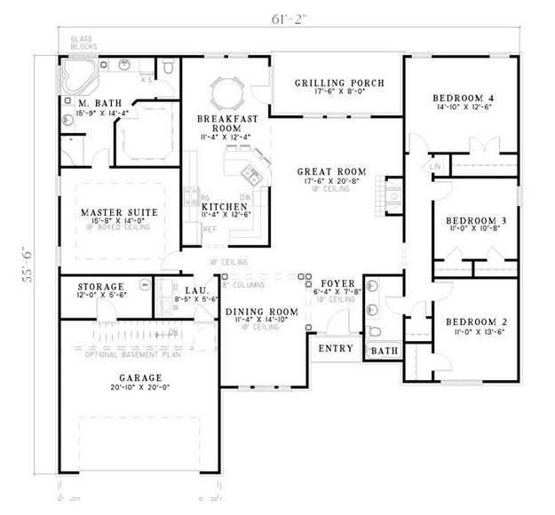 153 best one level house plans images on pinterest floor for 110 sq ft bedroom design