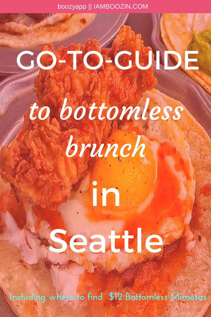 Brunch Seattle | GO-TO-GUIDE to bottomless brunch in Seattle including where to find $12 bottomless mimosas...Click through for more