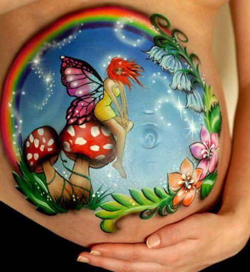 Belly painting - Buik schildering