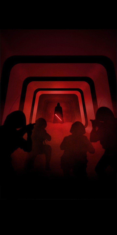 Star Wars RO Vader attack by Marco Manev. 18:9 Wallpaper.   Star Wars Phone Wall…