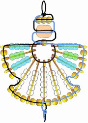 Safety pin angel craft -