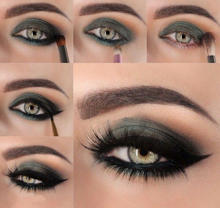 cool Красивый макияж смоки айс для зеленых глаз (50 фото) — Дневной и вечерний мейкап