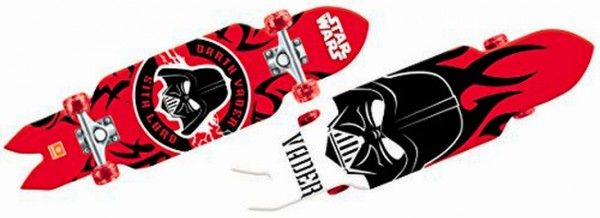 STAR WARS skateboard with light