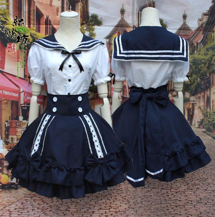 Aliexpress.com: Comprar Lolita uniforme escolar cosplay princesa vestido de marinero capa + falda traje de traje reloj fiable proveedores en BlueDream Anime Store