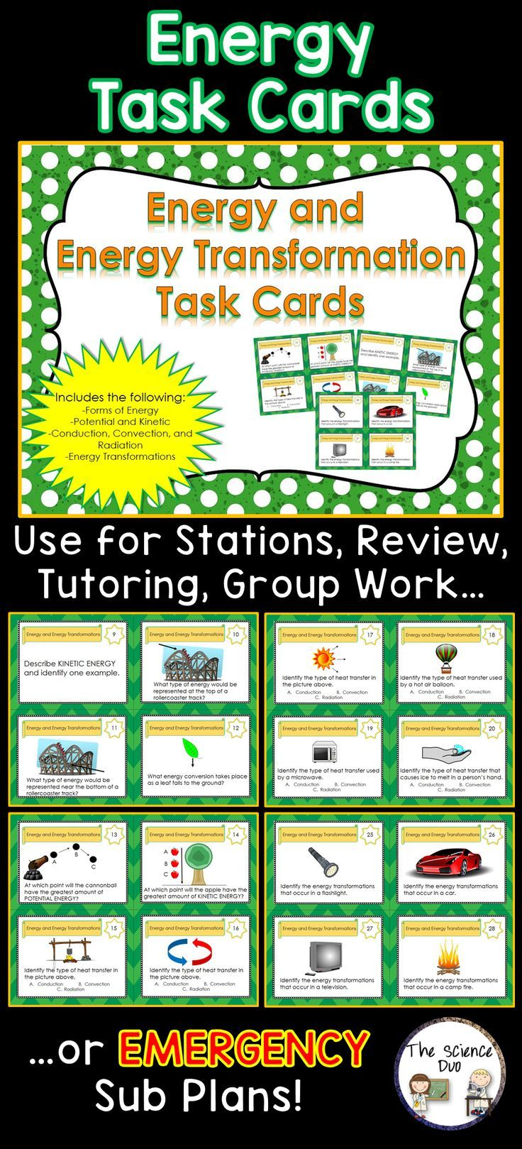 Worksheets Energy Transformation Worksheet the 25 best energy transformation ideas on pinterest electrical and task cards this interactive card set contains 8 pages