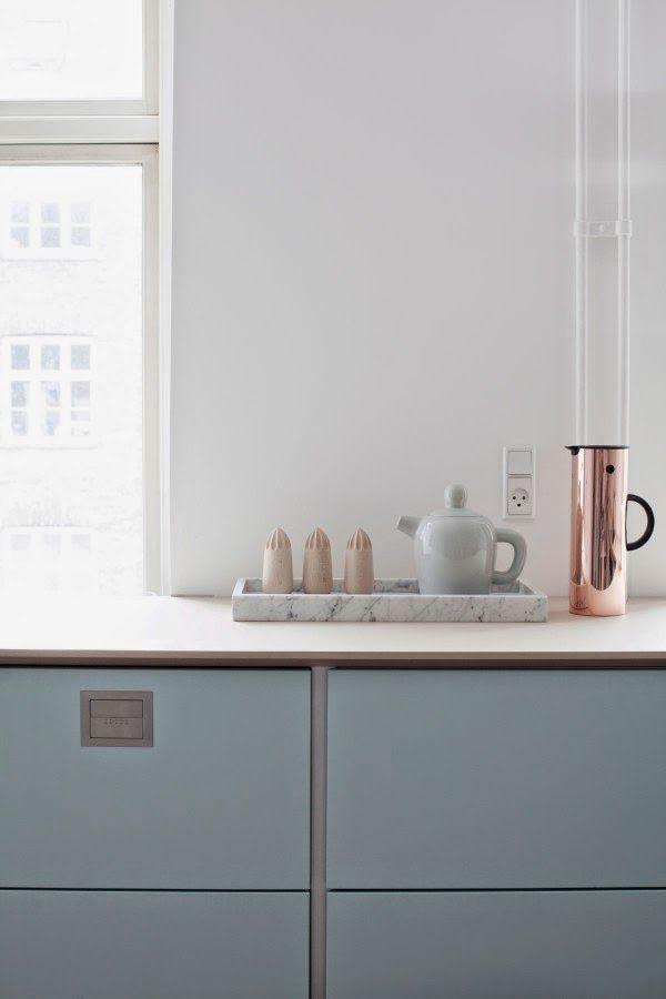 Stile danese per una cucina dal carattere femminile