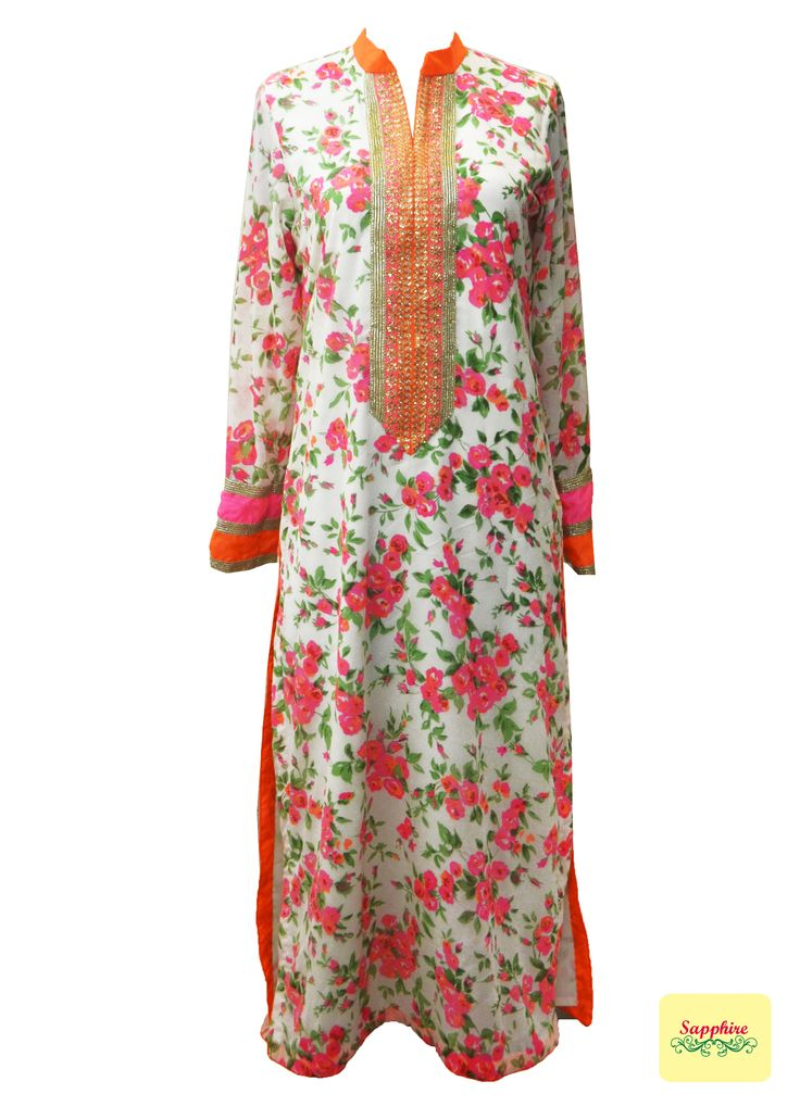 Floral print kurta