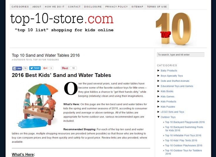 2016 Best Kids' Sand and Water Tables - Top 10 List