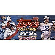 2000 Topps Football Factory Sealed 400 Card Set. Loaded with Rookie Cards Including Chad Pennington, Brian Urlacher, Shaun Alexander, Laveranues Coles, Peter Warrick, Plaxico Burress, Jamal Lewis and Many Others! Stars Include Favre, Emmitt, Warner, Unitas, Marino, Moss, Manning, Rice, Aikman and Many More. by Topps. $84.99. This is the 2000 Topps Football Factory Sealed 400 Card Set. Loaded with rookie cards including Chad Pennington, Brian Urlacher, Shaun Alexand...