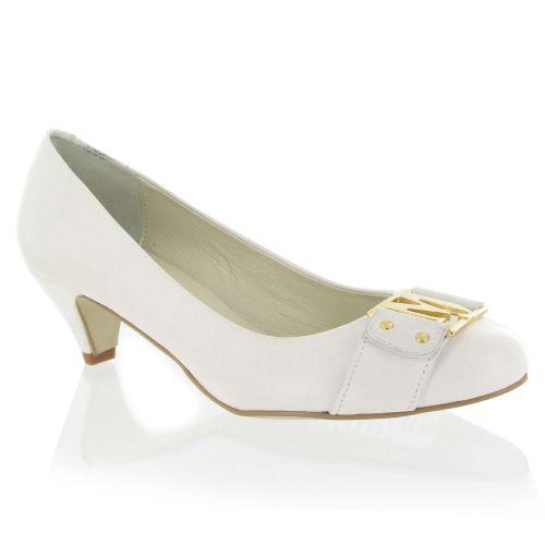 White Leather Court Shoe with Marta Jonsson detail, Was £120, Now £84 #wedding #fashion