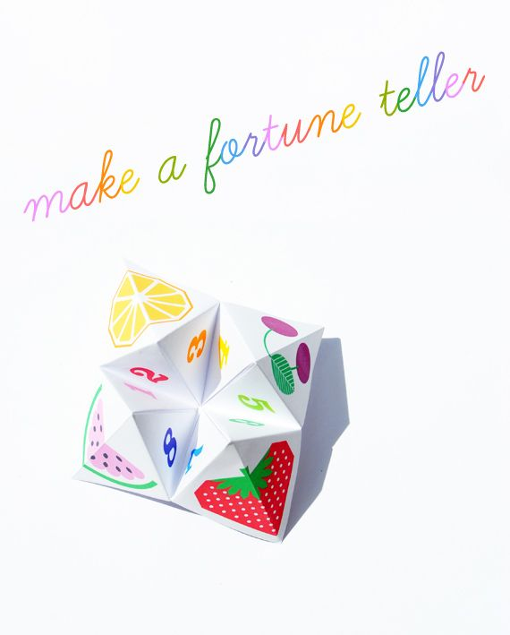 Fruity fortune teller (aka chatterbox!)