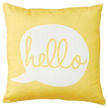 Word Cushion 43 x 43cm - Hello