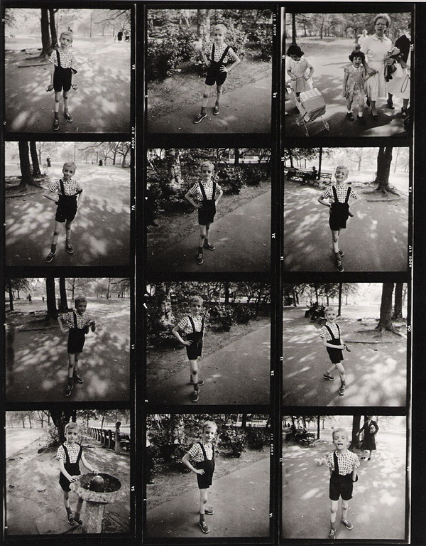 Diane Arbus Contact Sheet