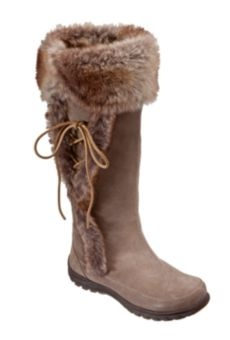 Mountrek® Elk Lodge Cuff Insulated Winter Boots for Ladies - Taupe | Bass Pro Shops/$139.99