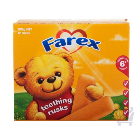 Teething Rusks – Farex 12 pack, 100g | Shop Australia